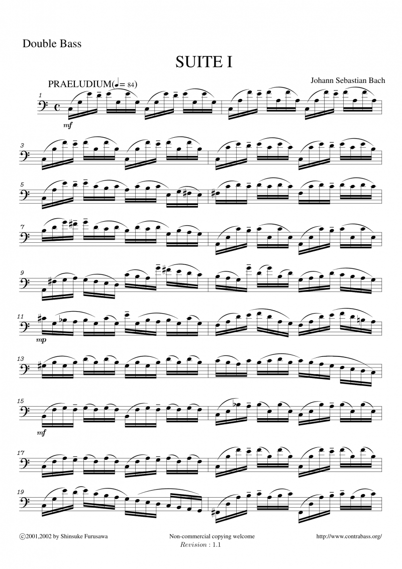 J.S.Bach: SUITE I Prelude