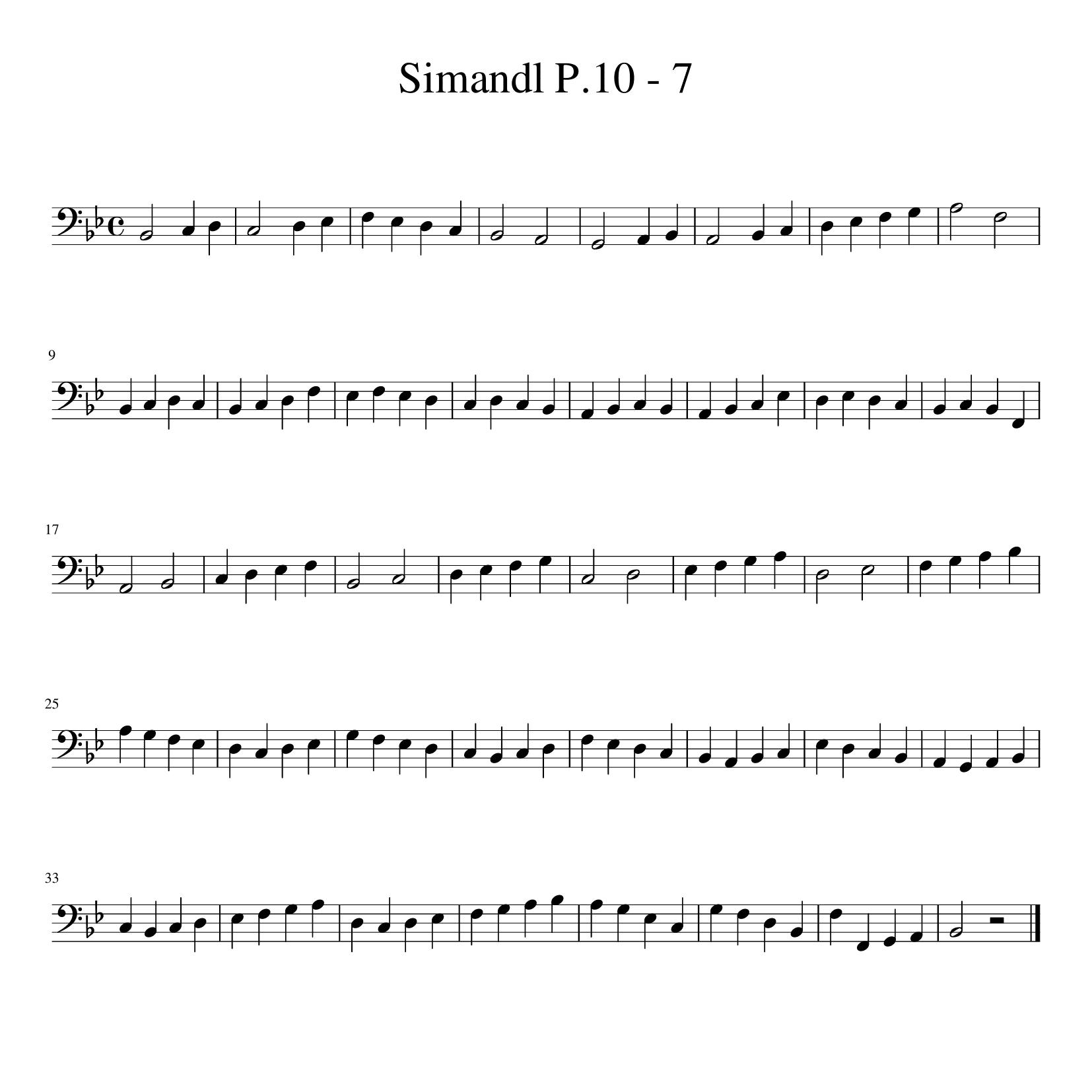 Simandl P10 エチュード7