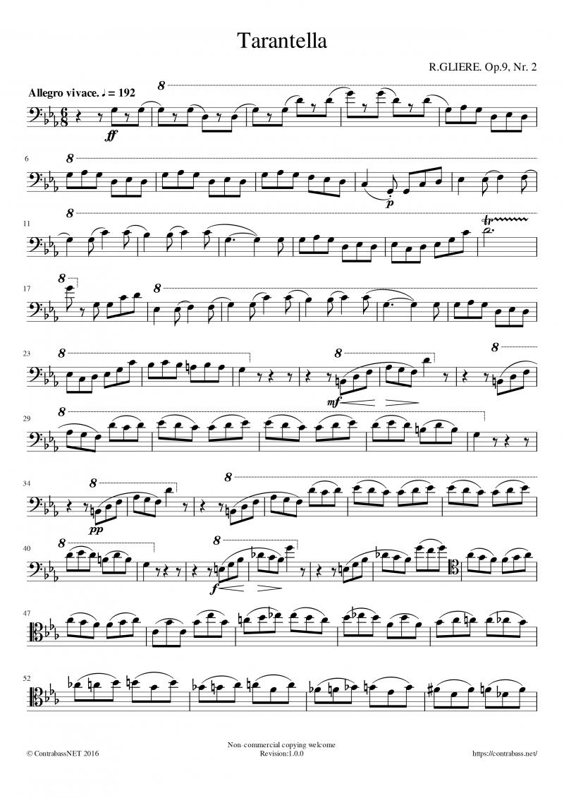 Gliere作曲「Tarantella」