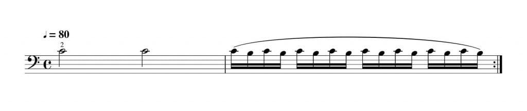2拍子系のビブラート練習