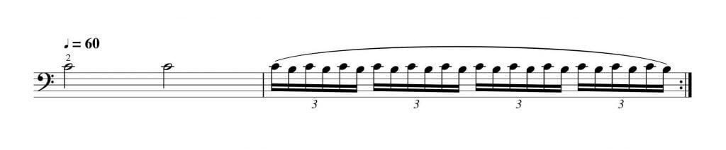 3拍子系のビブラート練習