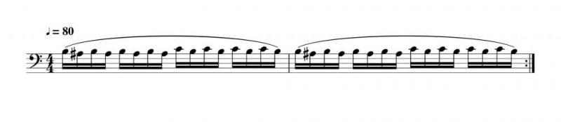 押さえる指が変わるビブラートの練習