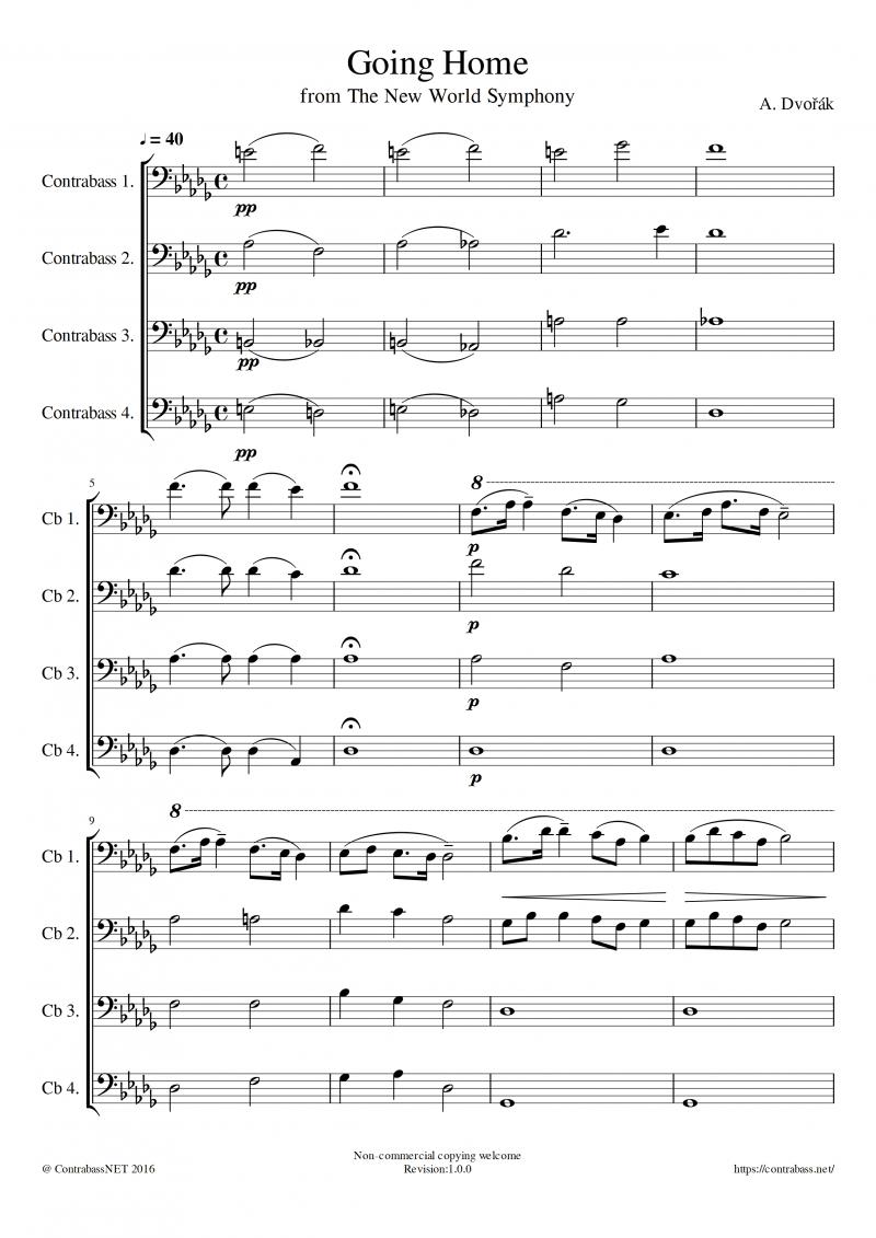 A.ドボルザーク作曲「家路」