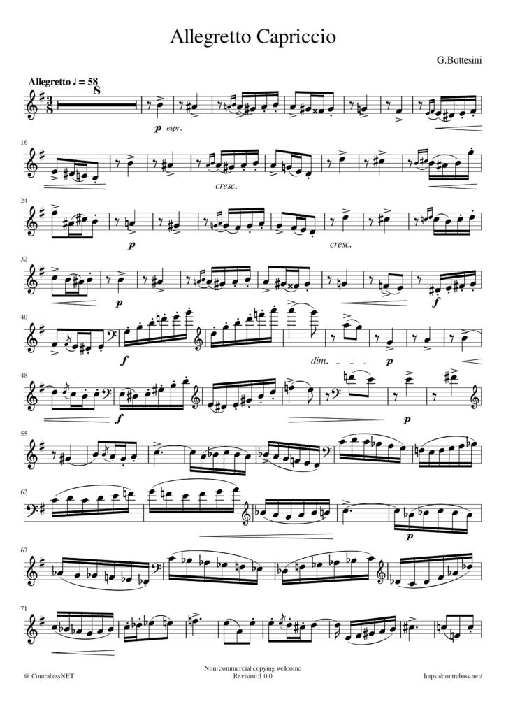 G.Bottesini作曲「Allegretto Capriccio」