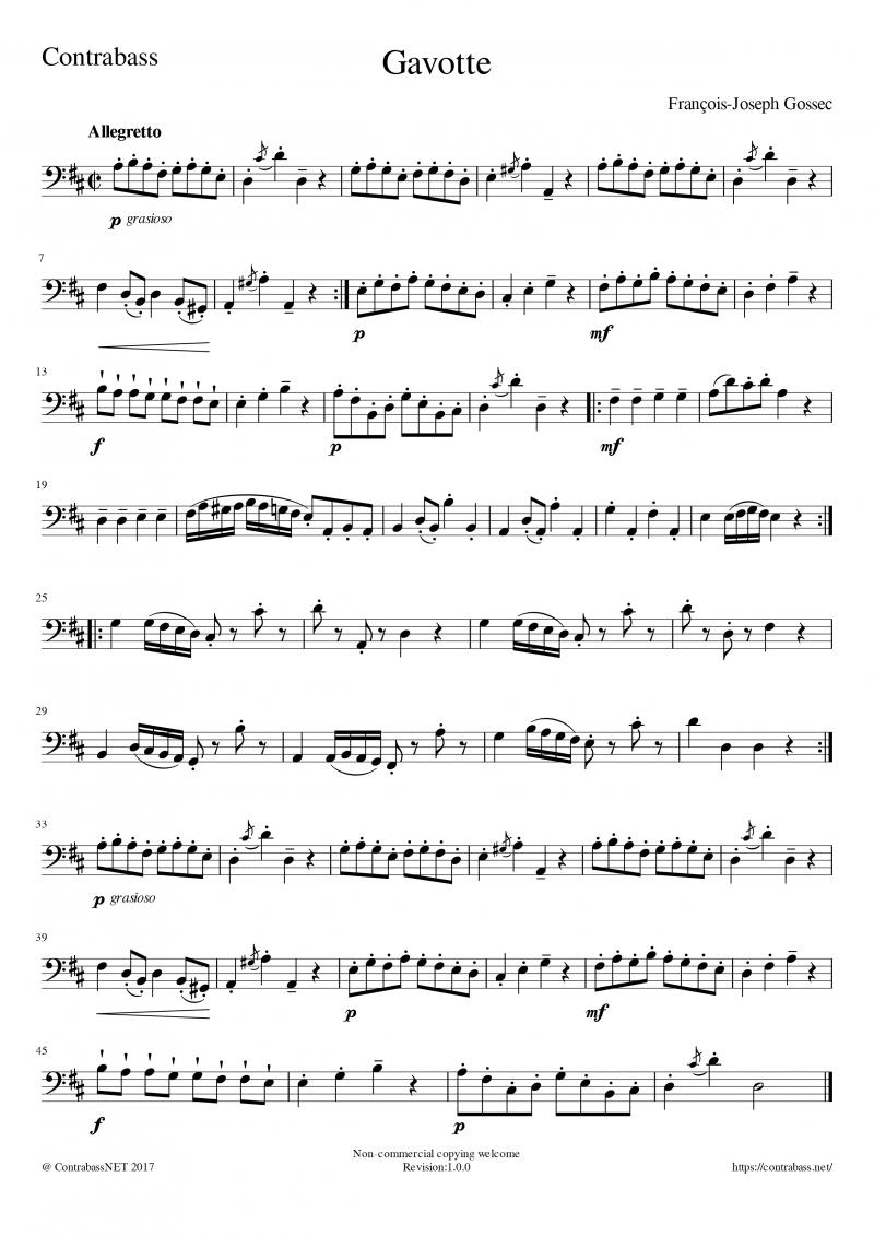 F.Gossec: Gavotte Orchestra tuning