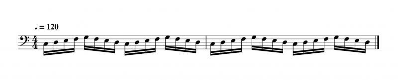 右手と左手がこんがらがる楽譜
