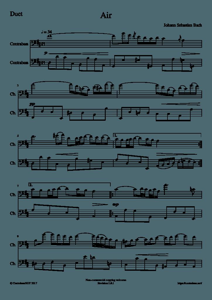 J.S.バッハ作曲:「G線上のアリア」2重奏