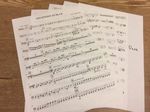 製本する楽譜