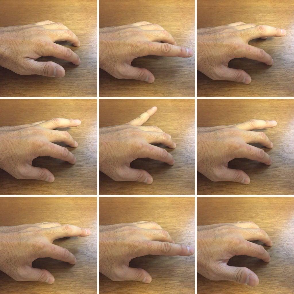 指をタップする練習
