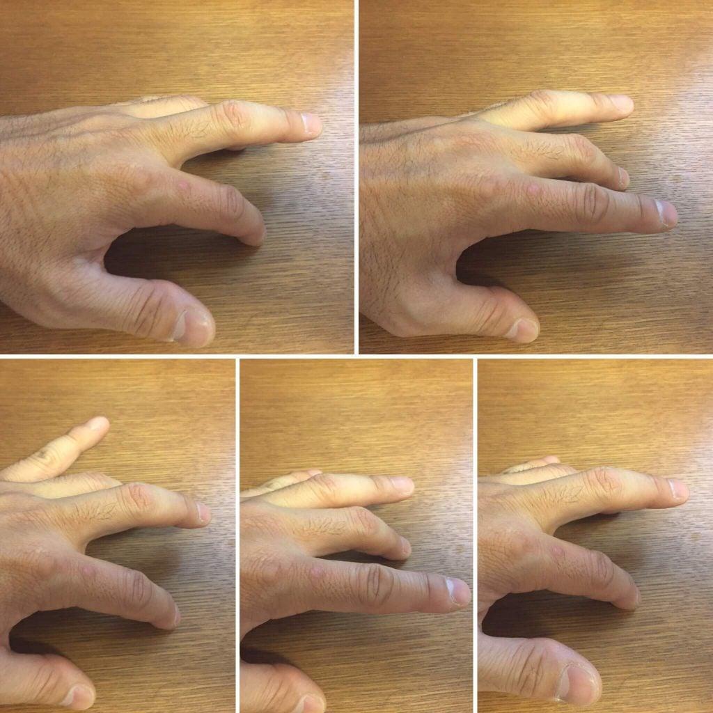 2本の指を同時にタップする練習