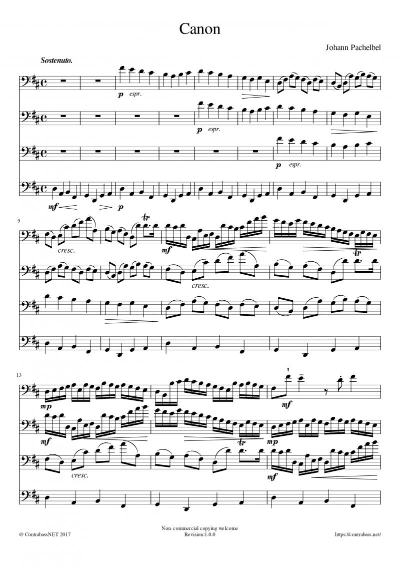 J.パッヘルベル作曲:「カノン」