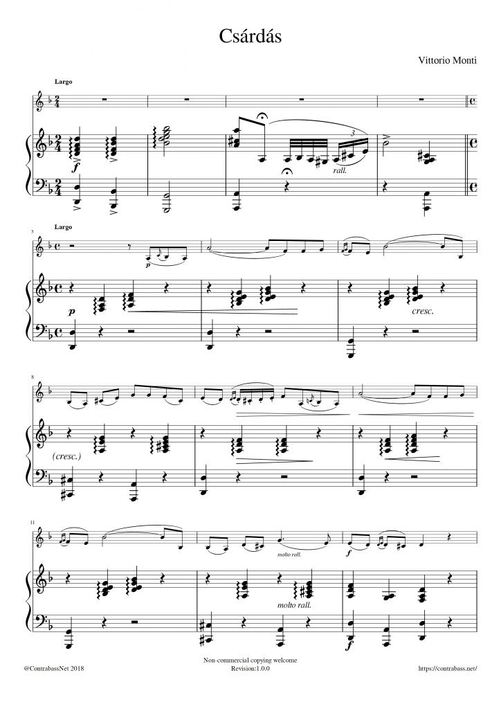 V.Monti: Csárdás Piano