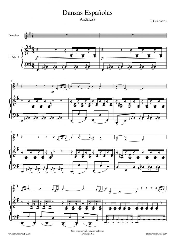 E.Granados: Danzas Españolas Andaluza Piano